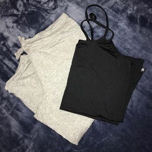 Gray Fabletics Cropped Joggers